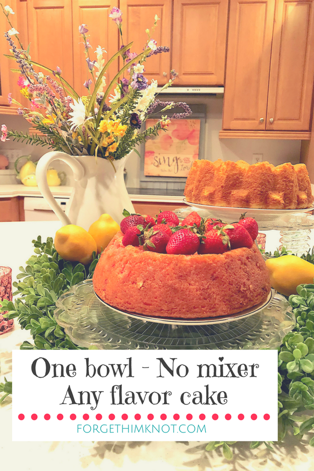 One-bowl, no-mixer easy cake recipe