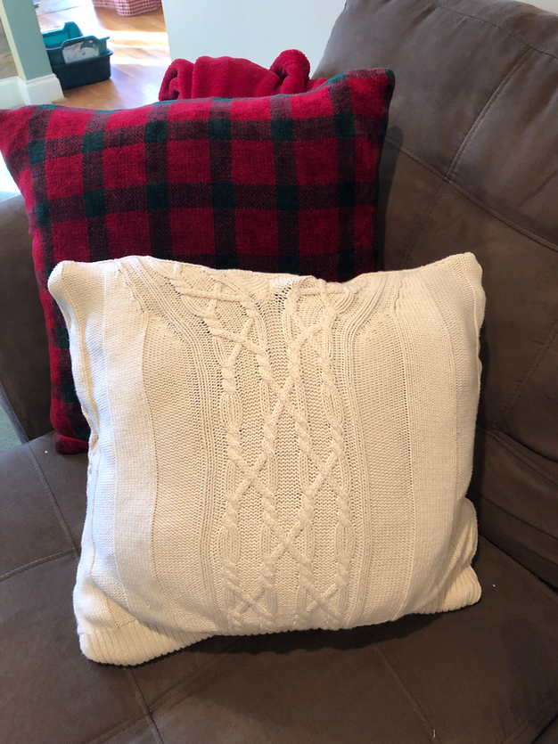 Sweater Pillow Covers DIY