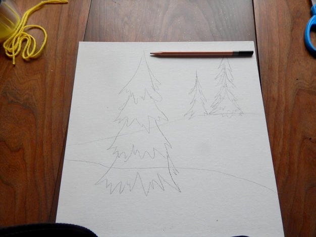 trees drawn