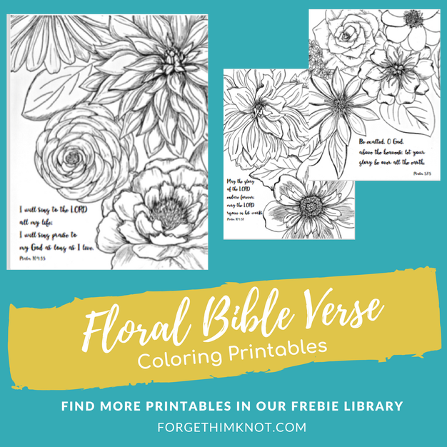 Floral Bible Verse Coloring Book