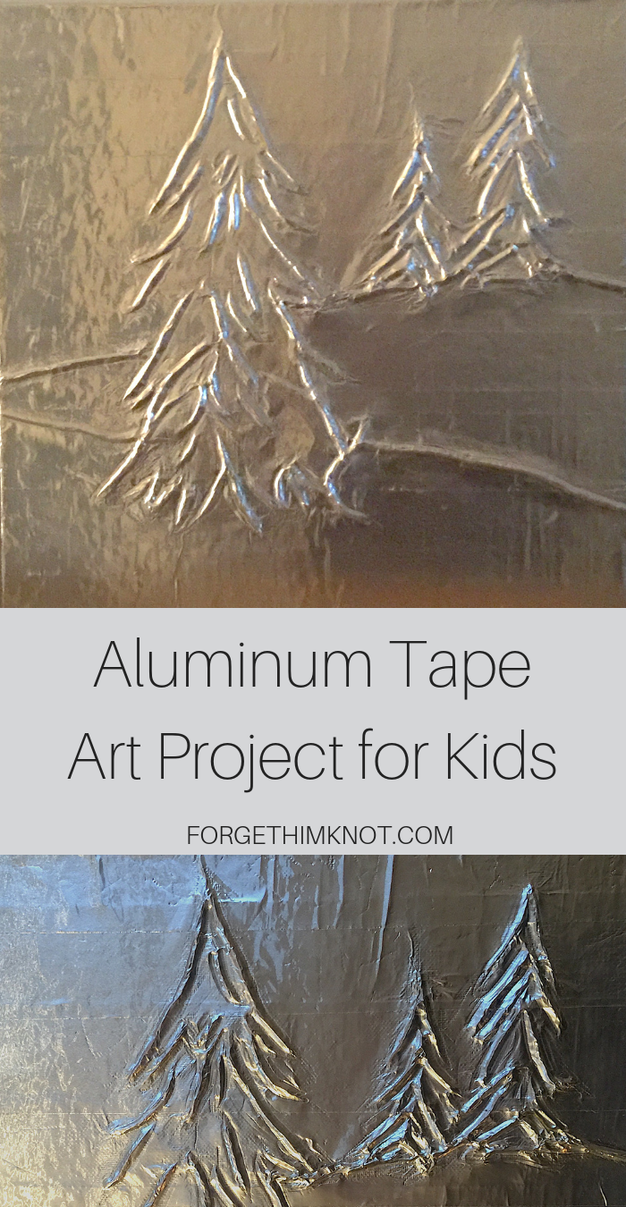 aluminum tape tree art