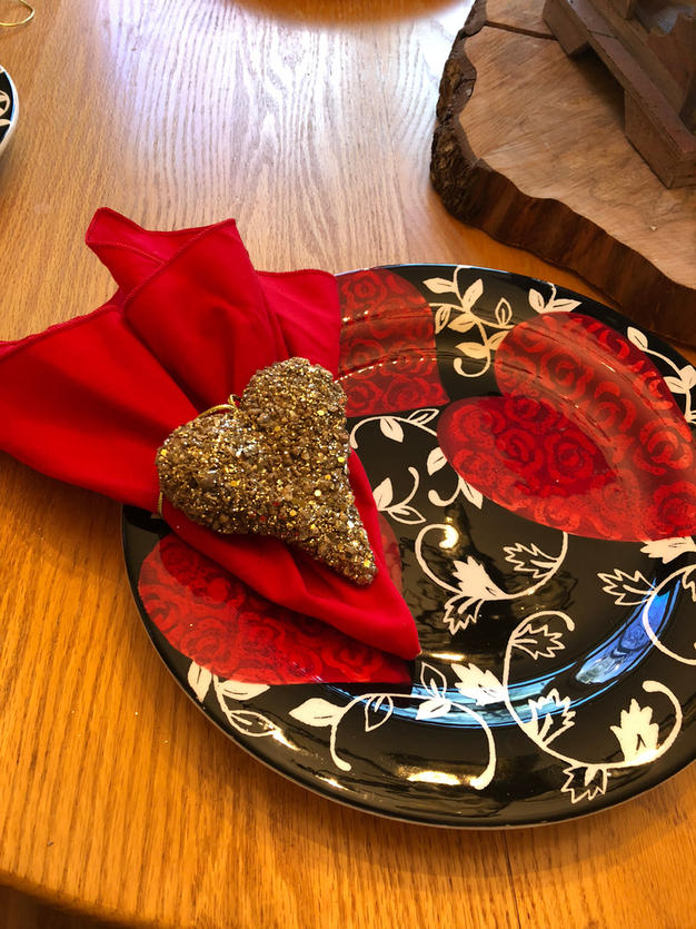 Valentine's Day Decor from the Christmas Clearance Aisle!