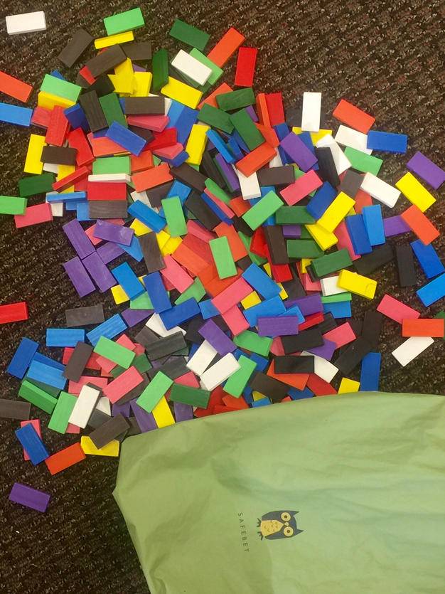 Colored dominoes