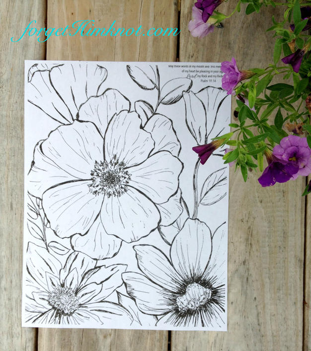 Sunflower Flower Coloring page.