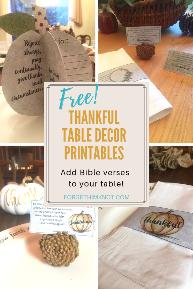 Thankful Table Decor Printables