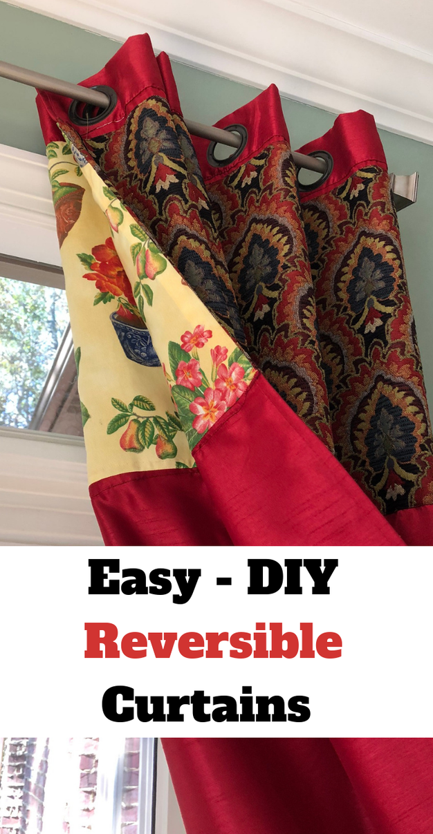 Easy-DIY Reversible Curtains