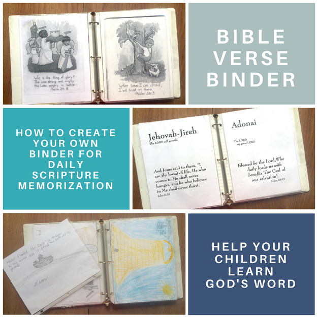 Bible Verse Memorization Binder For Kids