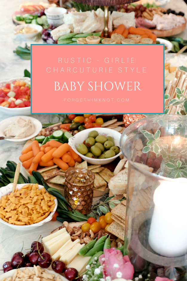 Rustic- Girlie Baby Shower Charcuterie Style!