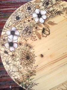 DIY Floral Coffee Table with Stain Markers