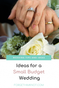 Ideas for a small budget wedding part 3