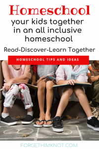 All inclusive homeschool family learning together