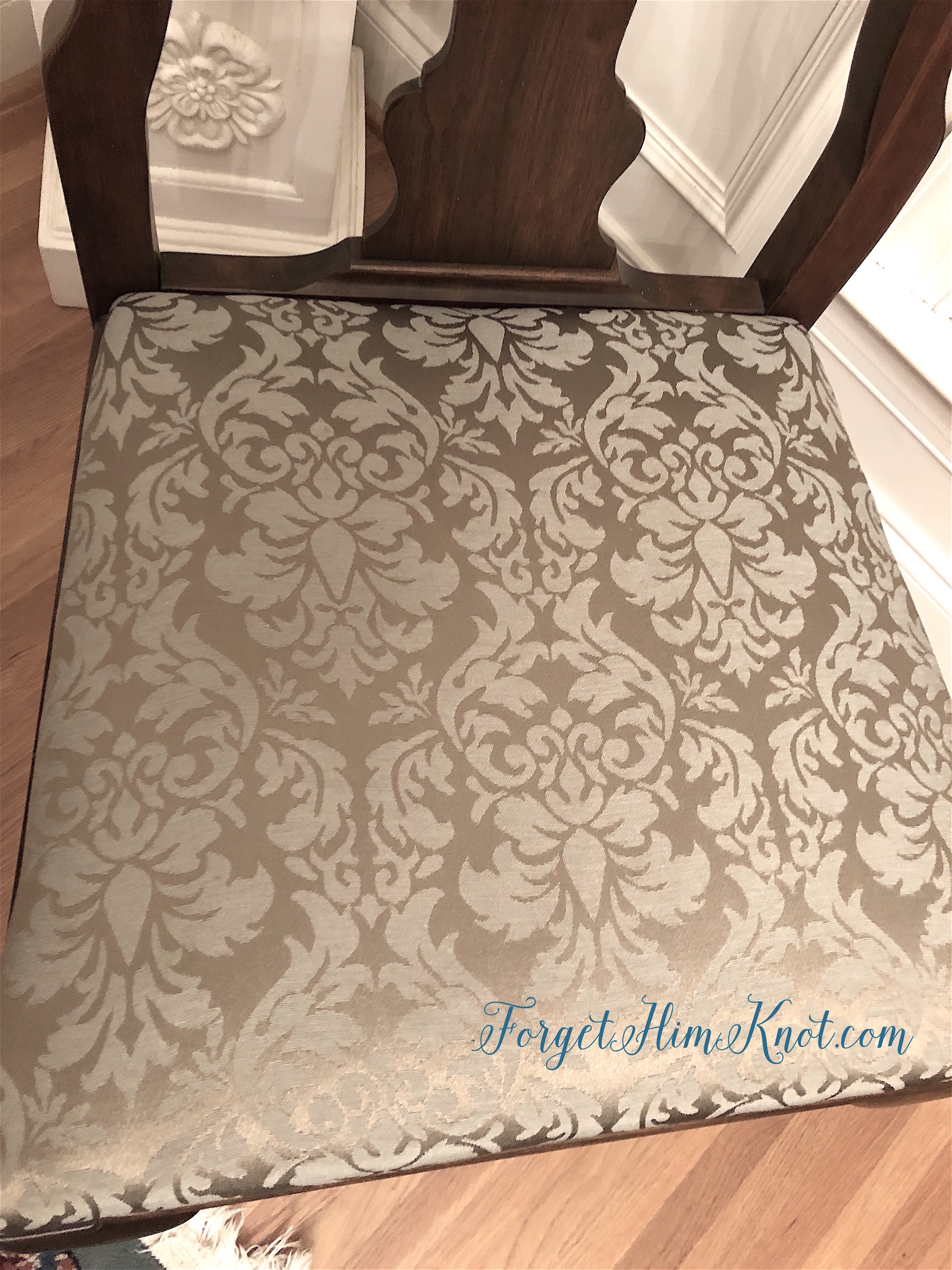 damask fabric dining room chair recovering