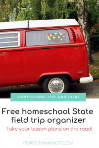 Homeschool field trip organizer by State!
