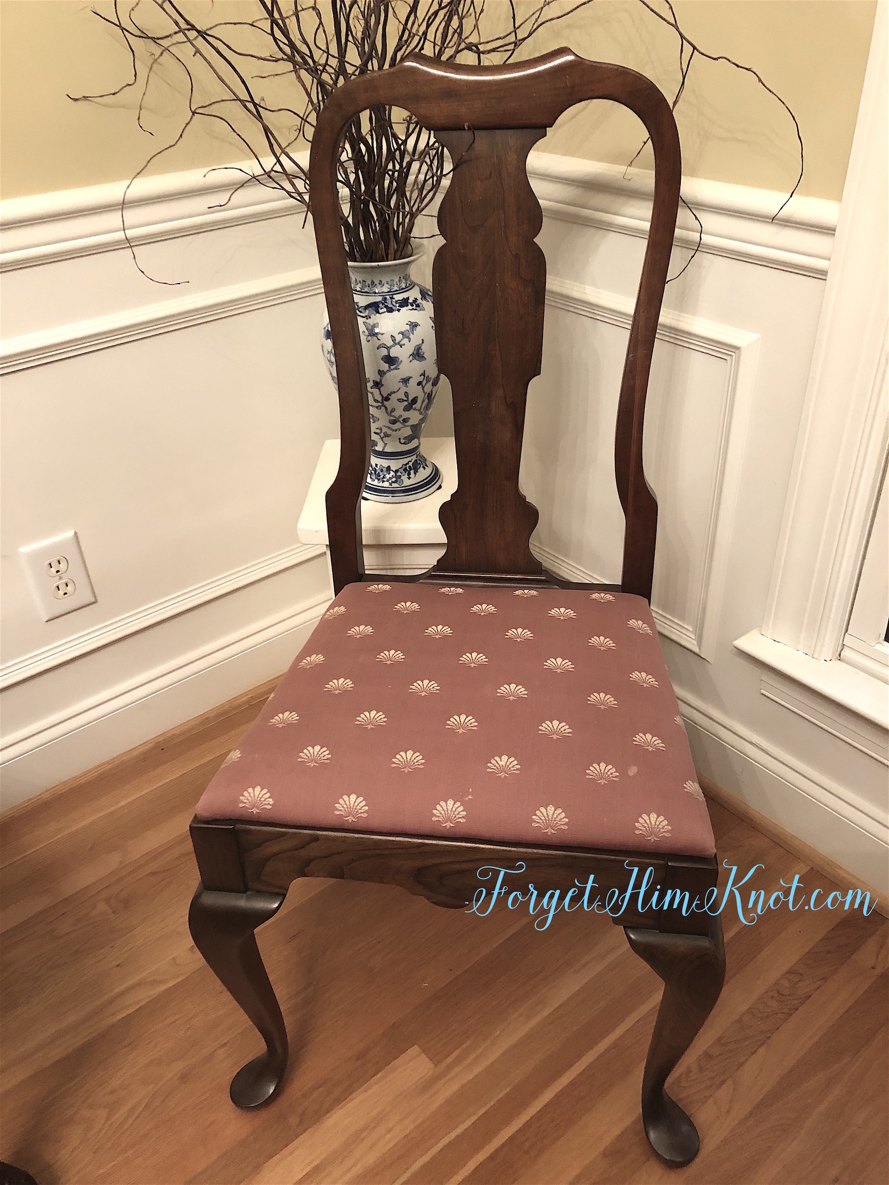 shell fabric dining room chair recovering