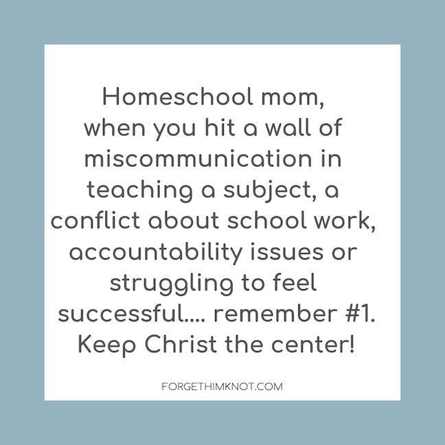 successful thriving homeschool is Christ centered
