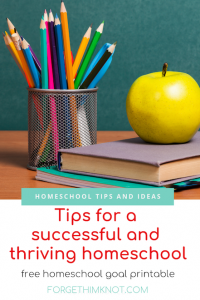 5 tips for a successful and thriving Christian homeschool