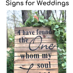 "Bible verse ""I have found the One whom my soul loves"" on brown pallet sign"