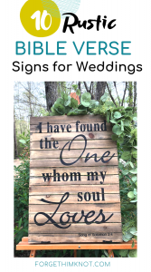 10 Rustic Bible verse signs for weddings