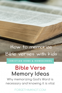 Bible verse memory ideas for kids