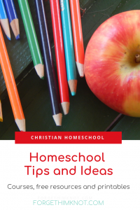 Christian Homeschool Tips and Ideas