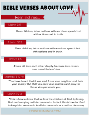 Bible verses about love for kids.