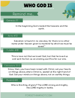 Bible verses to remember who God is for kids