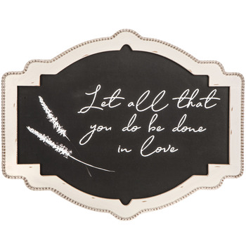 Let all you do be done in love 1 Corinthians 16 wedding sign