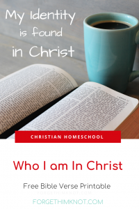 Who I am in Christ Pinterest pin