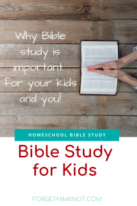 Why It Is Important to Study the Bible With Kids