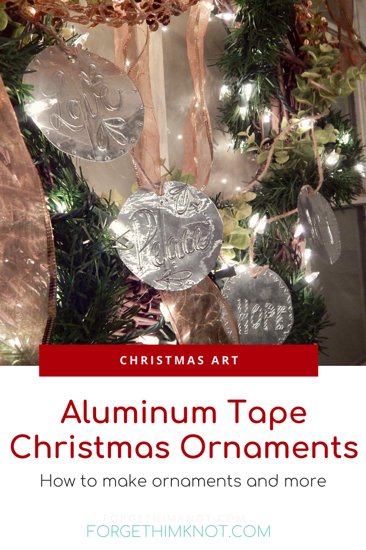 Aluminum tape Christmas ornament Pinterest