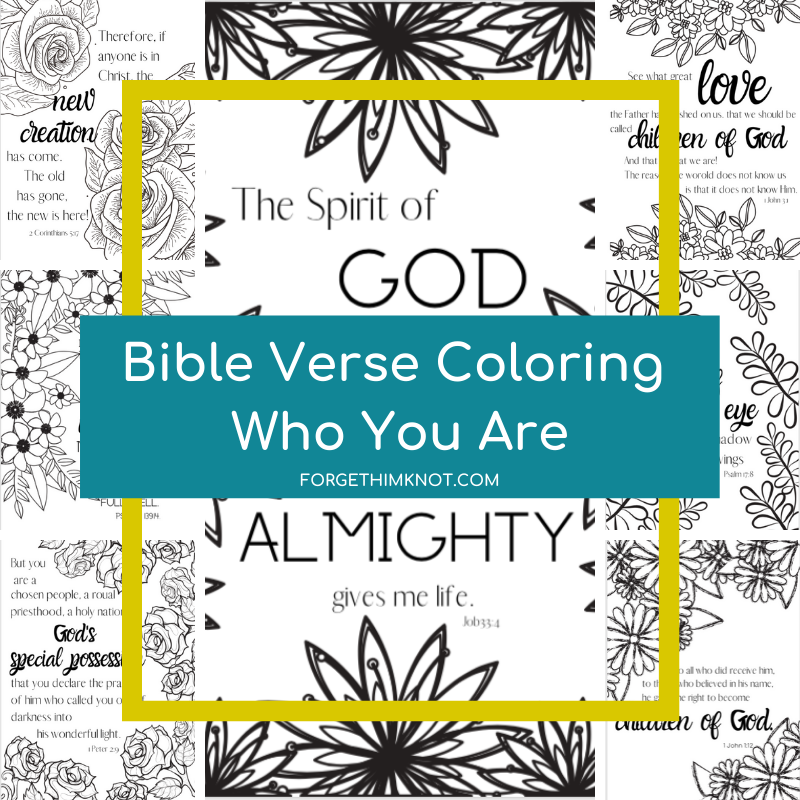 Bible verse coloring pages Who you are