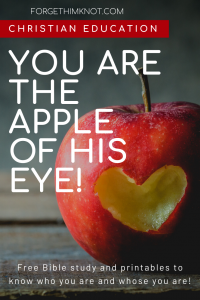 You are the apple of His eye whose you are