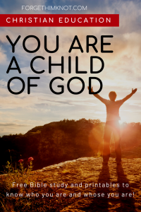 Free Bible Lesson John 1:12 Whose You Are as a Child of God