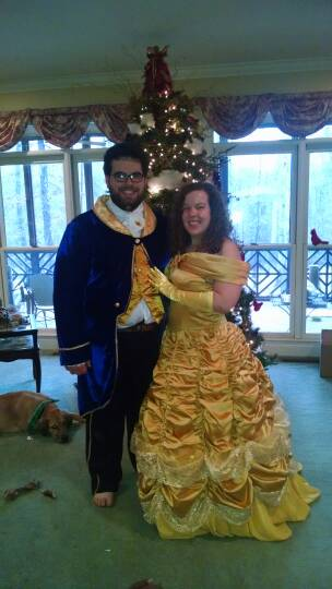 Melissa and Rob as Beauty and the Beast