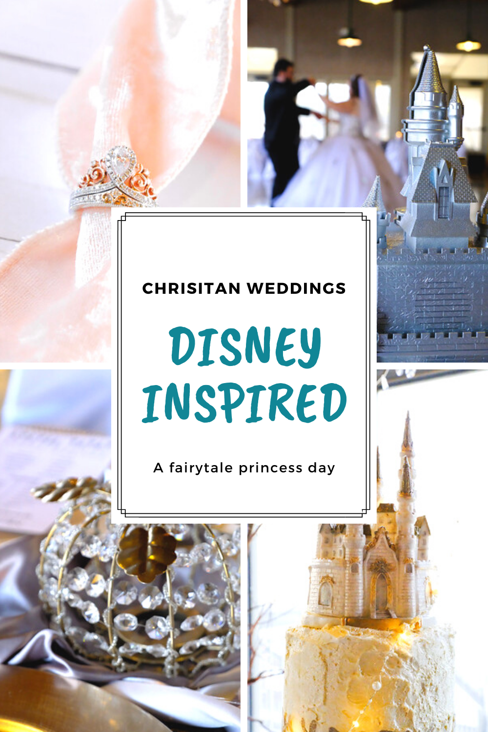 Christian wedding with Disney inspired  themed decor-forgethimknot.com