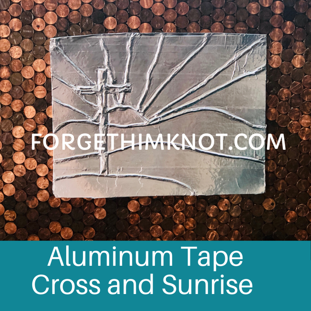 Aluminum Tape Cross and Sunrise Template