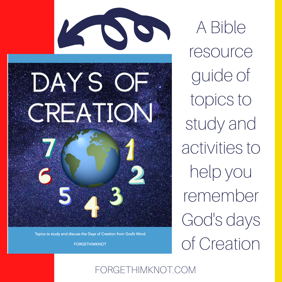 Days of Creation resource gide