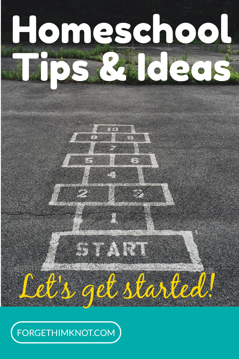Homeschool tips and ideas getting started