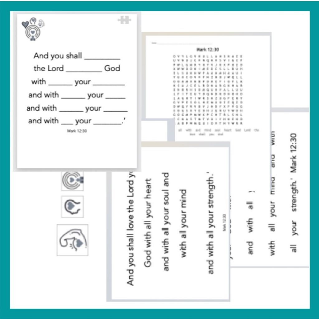Bible memory verse printables worksheets
