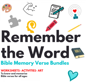Bible Memory Verse Printables-Remember the Word