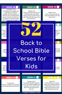 52 Back To School Bible Verses Free Printable