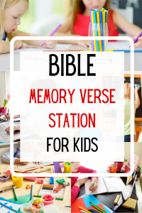 Bible Memory Verse Station Home Bible Time for Kids