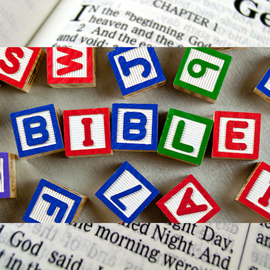 child blocks spelling Bible