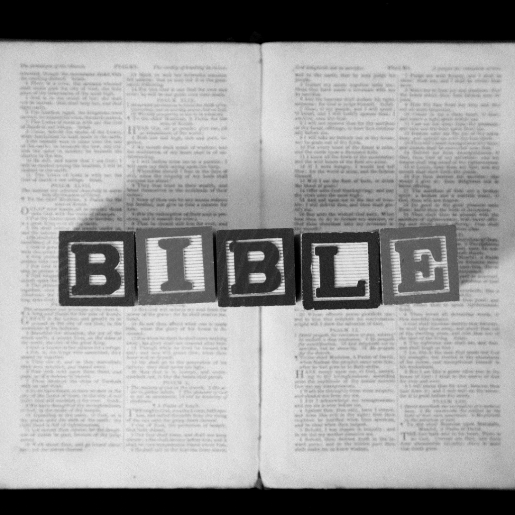 The Bible in black and white
